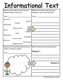 5th Grade Common Core Reading Informational Text Organizers with QR ...