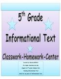 5th Grade Common Core Reading Informational Text Organizer