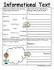 5th Grade Common Core Reading Informational Text Organizer