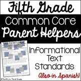 5th Grade Common Core Reading Informational Text Parent He