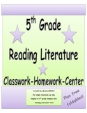 5th Grade Common Core Reading Literature Organizers with QR Codes