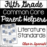 5th Grade Common Core Reading Literature Parent Helper -al