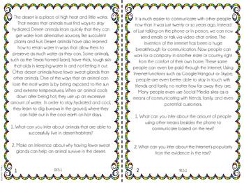 5th Grade Common Core Reading Review (Bundle)