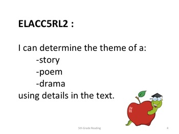 5th Grade Common Core Reading Standards for Posting - Student Friendly