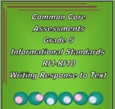 5th Grade Common Core ELA Test Prep- Informational Standards