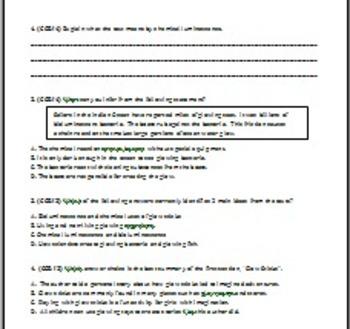 5th Grade Common Core ELA Test Prep- Informational Standards