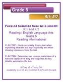 5th Grade Common Core Reading/ELA Test Prep RI1 and RI2