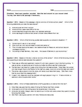 5th Grade Common Core Reading/ELA Test Prep RI1 and RI2