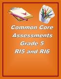 5th Grade Common Core Reading/ELA Test Prep RI5 RI6
