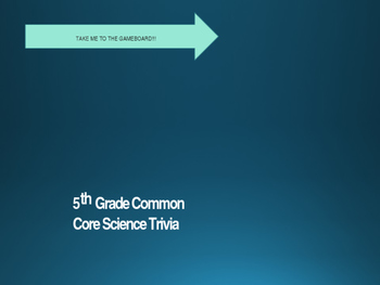 5th Grade Common Core Science Trivia PowerPoint Game Show