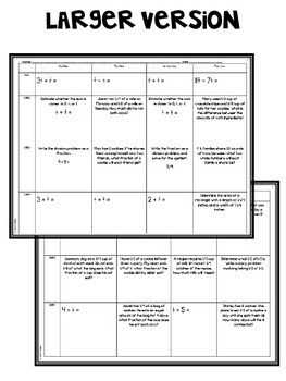 5th Grade Common Core Spiral Review (Fractions) *Editable*