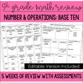5th Grade Math Spiral Review (Number and Operations: Base