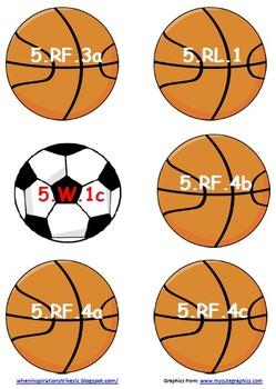 5th Grade Common Core Sports Display