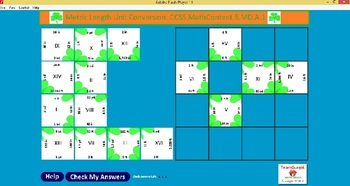 5th Grade Common Core-St Patrick's Day Metric Length No Prep Computer Puzzles