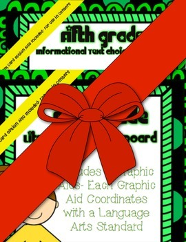 5th Grade Common Core Standards Choice Boards/Graphic Aids  ~w/ Task Card Option