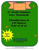 5th Grade Common Core Standards Classifying 2-D Figures Test
