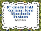 5th Grade Common Core Standards Math Posters