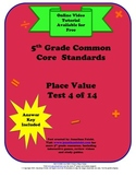 5th Grade Common Core Standards Place Value Test