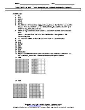 5th Grade Common Core Standards Rounding & Decimals