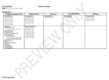 5th Grade Common Core State Standards (CCSS) Lesson Plan