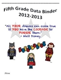 5th Grade Common Core Student Data Binder Superheroes Theme