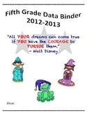 5th Grade Common Core Student Data Binder Wizards Theme