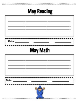 5th Grade Common Core Student Data Binder Wizards Theme