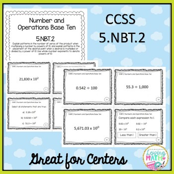 5th Grade Math Common Core Task Cards {Numbers and Operations Base Ten}