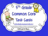 5th Grade Common Core Task Cards Parentheses, Braces, and Brackets