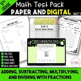 Fractions Math Test Bundle {Paper and Digital} 5th Grade Unit 4