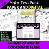 Geometry & Coordinate Plane Math Test Bundle {Paper & Digi