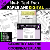 Geometry & Coordinate Plane Math Test Bundle {Paper & Digi