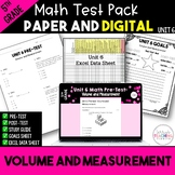 5th Grade Unit 6 Math Test Pack {Paper/Pencil and Paperless}