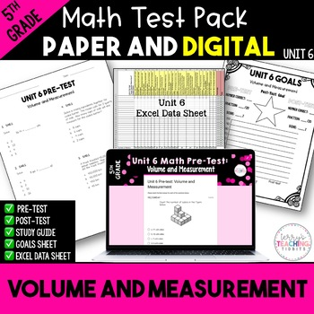 5th Grade Unit 6 Math Bundle Pack {Paper/Pencil and Paperless}