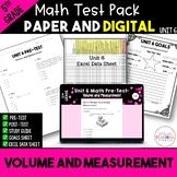 Volume and Measurement Math Test Bundle {Paper and Digital