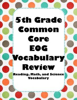 5th Grade Common Core Vocabulary Review