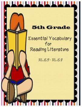 5th Grade Common Core Essential Vocabulary for Reading Literature (Editable)