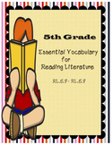 5th Grade Common Core Essential Vocabulary for Reading Lit