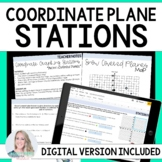 The Coordinate Plane : Middle School Math Stations