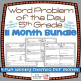 Word Problems 5th Grade Bundle, Spiral Review, Distance Learning
