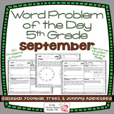 Word Problems 5th Grade, September, Spiral Review, Distanc
