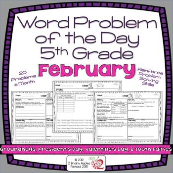 Word Problems 5th Grade, February