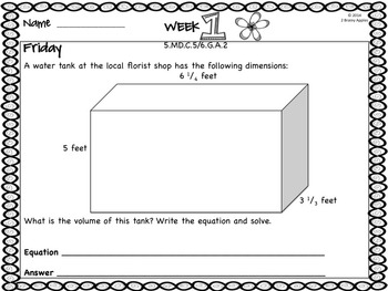 Word Problems 5th Grade, May