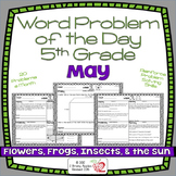 Word Problems 5th Grade, May, Spiral Review, Distance Learning