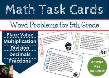 5th Grade Common Core Word Problems
