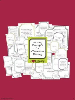 Writing Prompts 5th Grade Common Core Bundle December, January, and February
