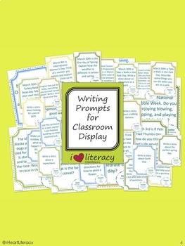 Writing Prompts 5th Grade Common Core March, April, May