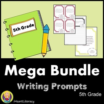Writing Prompts 5th Grade Common Core Year Long Mega Bundle