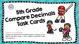 5th Grade Compare Decimals Task Cards