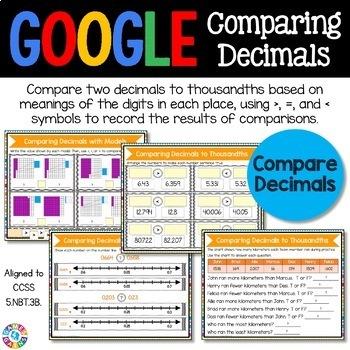 5th Grade Comparing Decimals & Ordering Decimals {5.NBT.3B} - Google Classroom